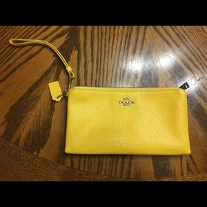 Yellow Coach Bag